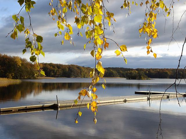Sweden, Jetty, Autumn