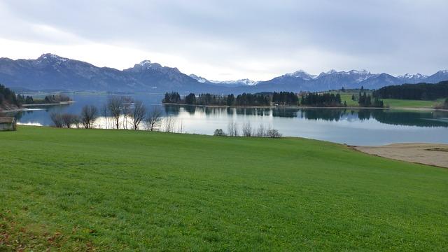 Allgäu, Lake Forggensee, Autumn, Tegelberg, Säuling
