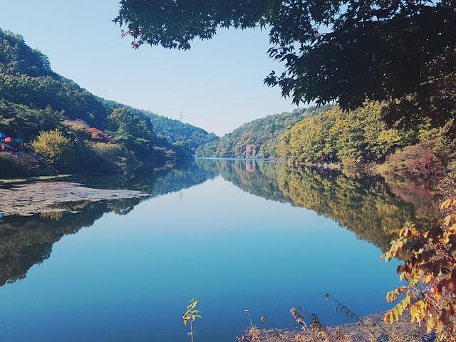 Autumn, In Autumn, Autumn Sky, Lake, Reservoir