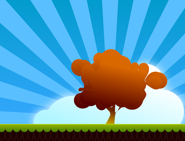 Landscape, Tree, Autumn, Fall, Sunburst, Sunrays