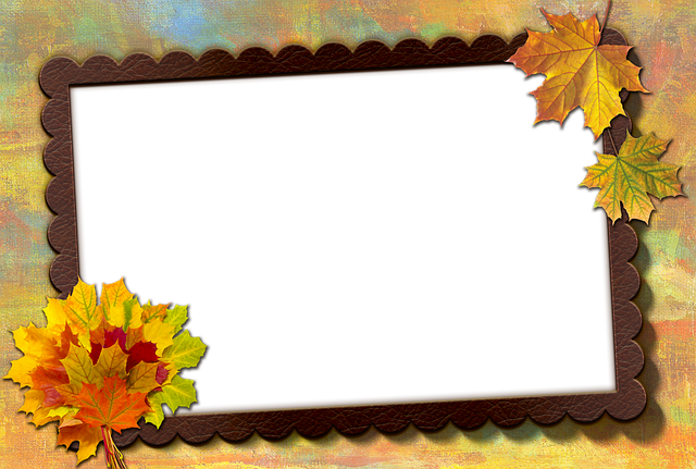 Frame, Photo Frame, Autumn Leaf, Maple, Leather, Brown