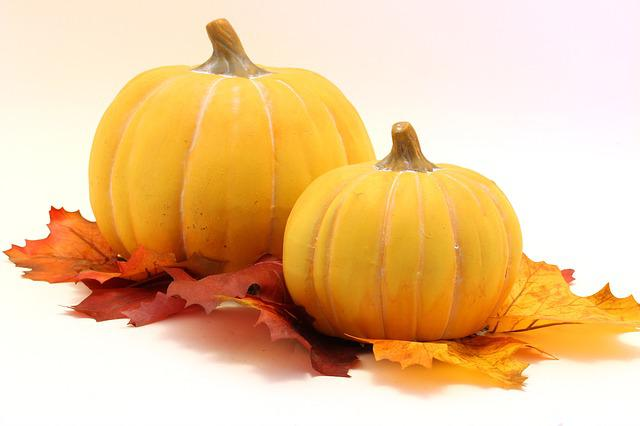 Pumpkin, Leaves, Halloween, Autumn, Halloweenkuerbis