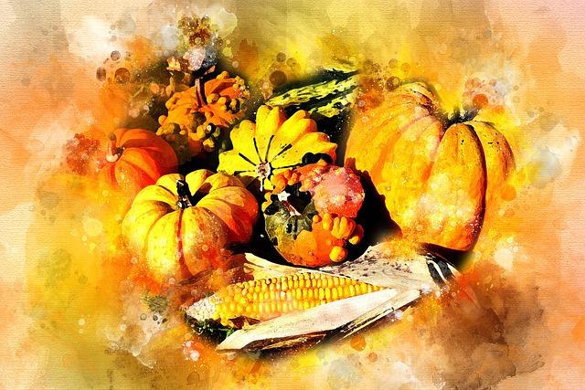 Pumpkin, Autumn, Corn, Harvest, Still Life, Nature