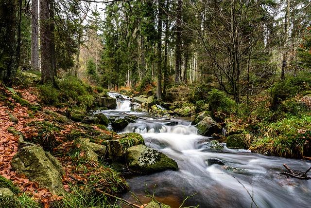 Autumn, Waterfall, Resin, Water, Nature, Waterfalls