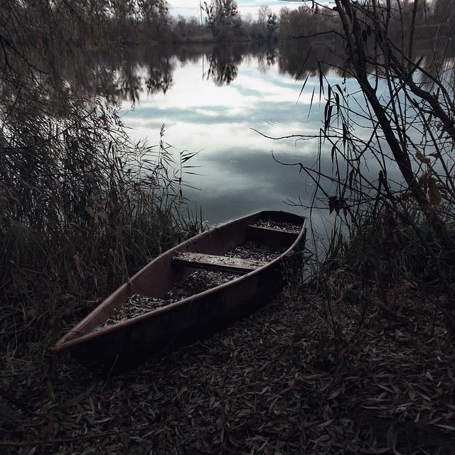 Boat, Lake, Landscape, Sky, Trees, Autumn, River