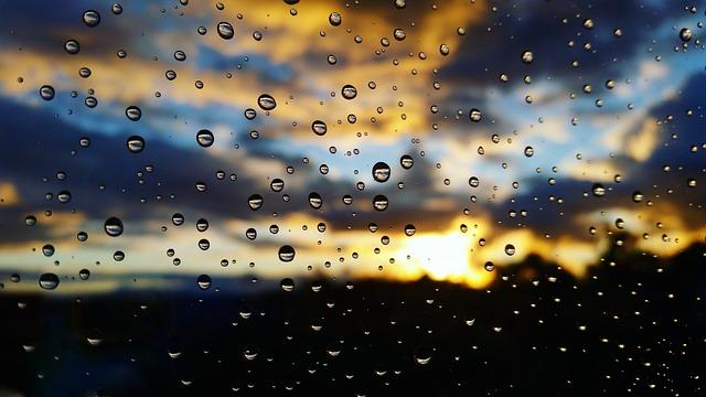 Rain, Autumn, Sunset, Sun, Nature, Beauty