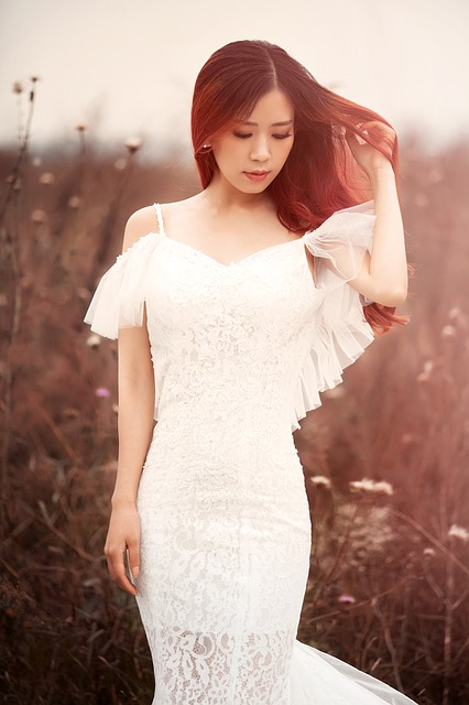 White Wedding Dress, Autumn, The Wild, Model