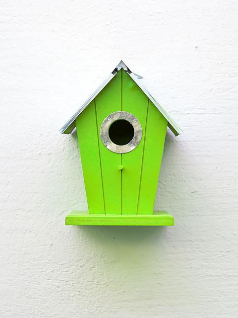 Aviary, Green, Birds, Nesting Place, Bird Feeder