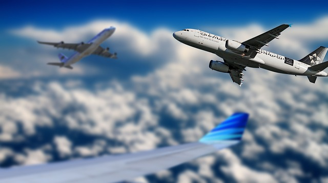 Aircraft, Sky, Fly, Blue, Aviation, Travel, Cloud, Wing