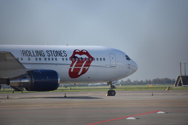 Rolling Stones, Airplane, Schiphol, Music, Aviation