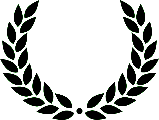 Laurel Wreath, Roman, Victory, Black, Leaves, Award