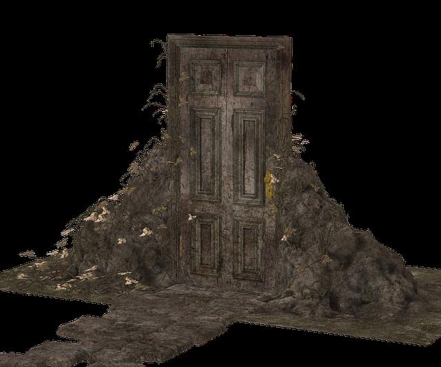Door, Closed, Garden, Away, Rest, Landscape, Fantasy