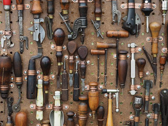 Tools, Awl, Pliers, Antique, Equipment, Work, Craft