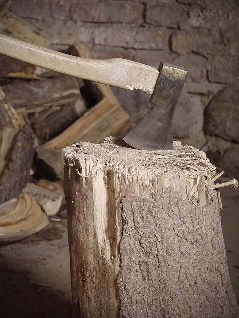 Hack Stock, Wood, Ax, Axe, Make Wood, Chop Wood, Work