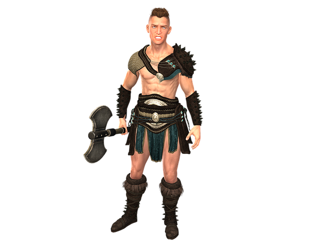 Fighter, Man, Battle Axe, Axe, Weapon, Middle Ages