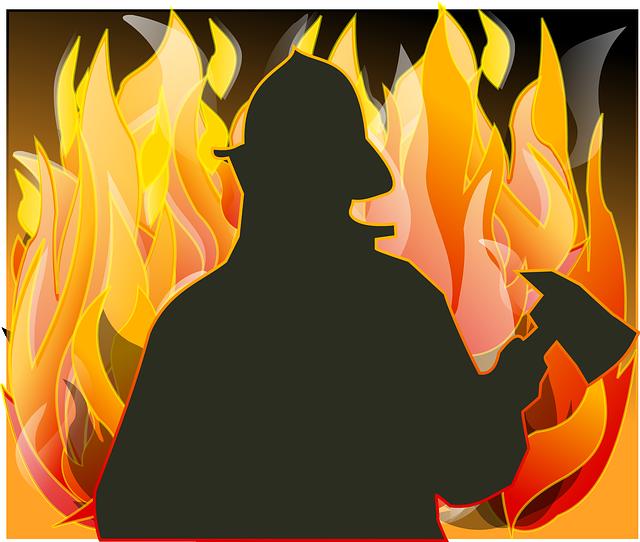 Fireman, Fire, Axe, Save, Helmet, Fighting, Courage