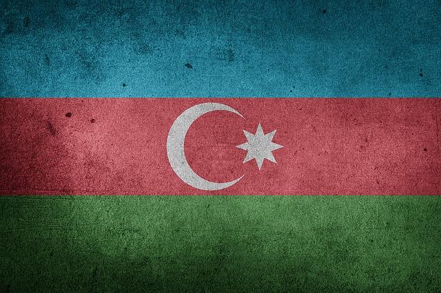 Flag, Azerbaijan, Asia, Caucasus, Middle East