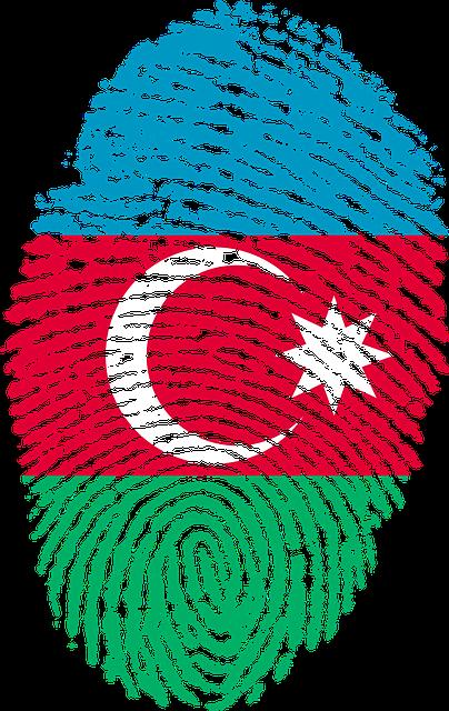 Azerbaijan, Flag, Fingerprint, Country, Pride, Identity