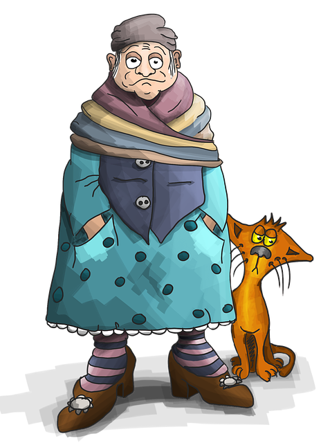Grandma, Cat, The Old Lady, Granny, Baba