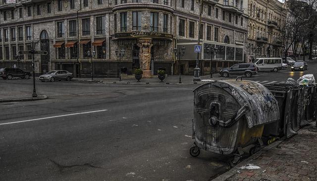Odessa, Garbage, Restaurant, Babel, Road, Building