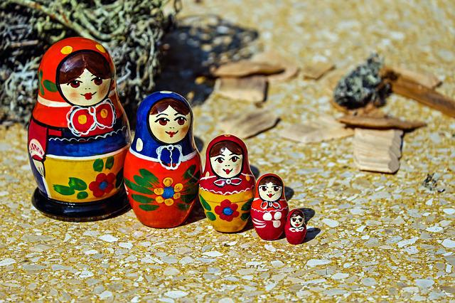 Babuschka, Matroschka, Doll, Wood, Art, Russian Dolls