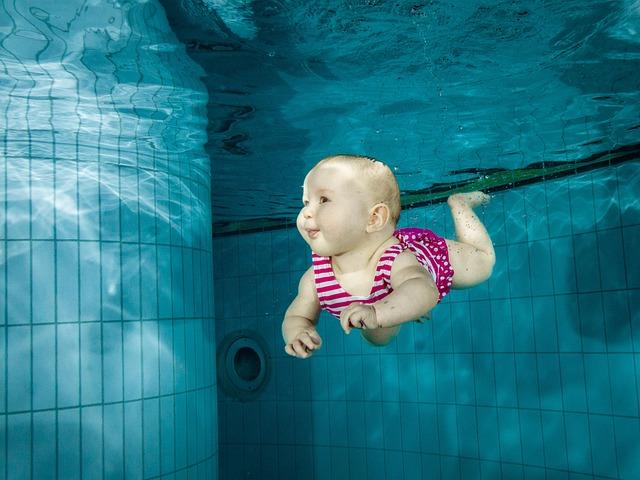 Baby, Swimming, Underwater, Family, Girl, Water