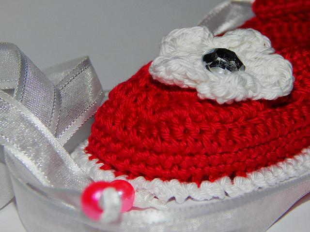 Handmade, Baby Shoes, Baby, Socks, Red, Cute