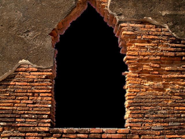 Wall, Opening, Bach Stone, Bricks, Masonry, By Looking