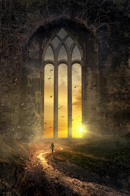 Fantasy, Mystical, Window, Bach, Sun, Huge, Gigantic