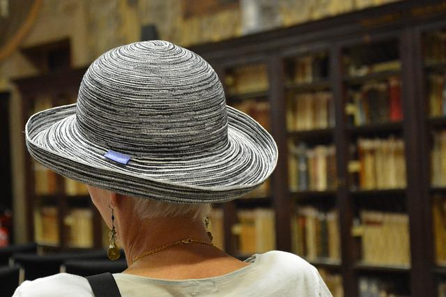 Hat, Library, Back, Bologna, Italy, Women