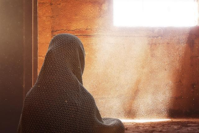 Female, Headscarf, Back, Person, Human, Light Rays