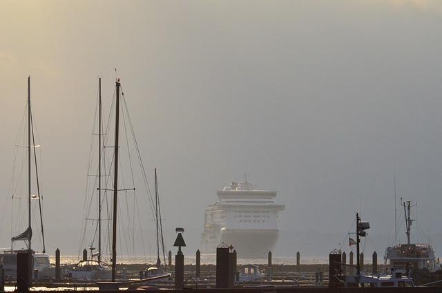 Ferry, Haze, Watercraft, Back Light