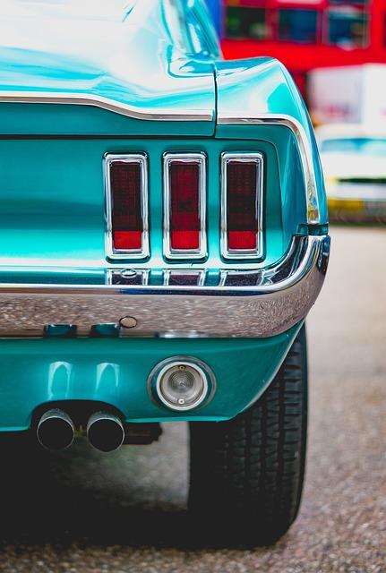 Auto, Vehicle, Wheel, Mustang, Mature, Back Light