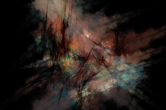 Abstract, Fractal, Digital, Backdrop, Composition