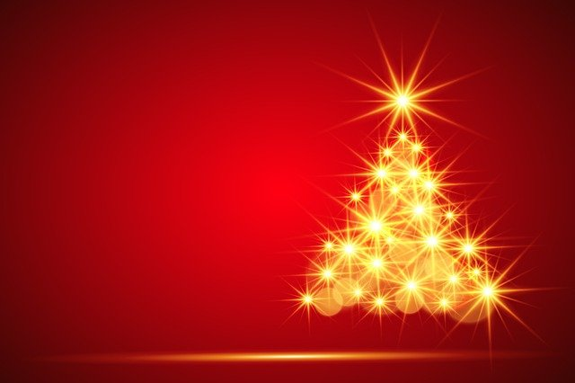 Christmas, Christmas Tree, Background, Backdrop, Red