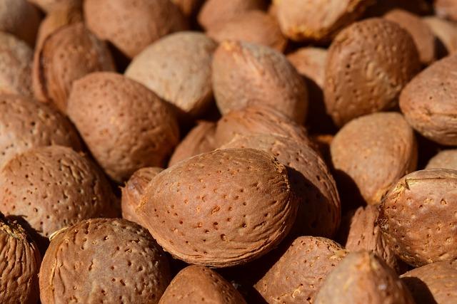 Almonds, Background, Frisch, Healthy, Fresh Almonds