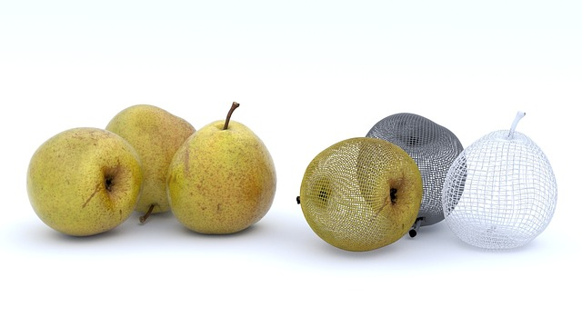Fruit, Pears, Fruits, Food, Apple, Green, Background