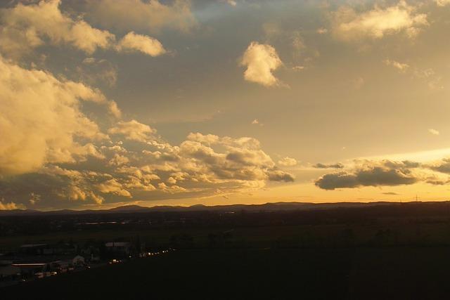 Background, Clouds, Sunset, Babenhausen, Abendstimmung