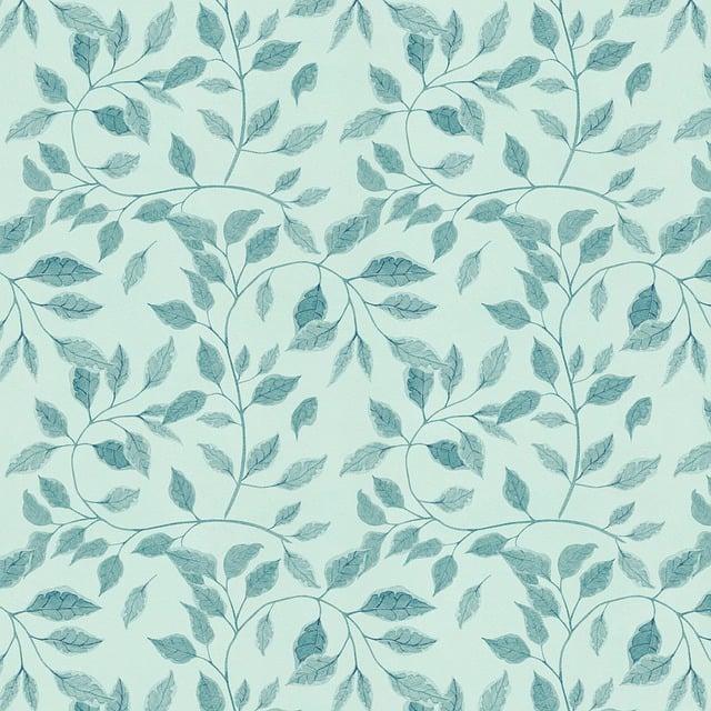Pattern, Leaves, Blue, Foliage, Seamless, Background
