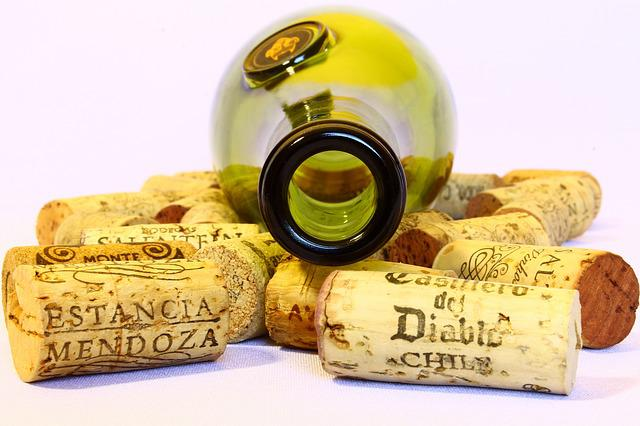 Wine, Stoppers, Bottle, Empty, Used, Background