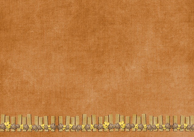 Background, Drawing, Vintage, Brown, Pegs, Flower