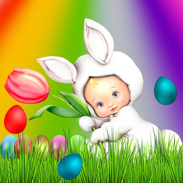 Easter, Lawn, Celebration, Bebe, Background
