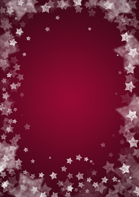 Star, Background, Christmas, Red, Pattern