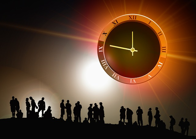 Human, Group, Clock, Time, Silhouette, Background