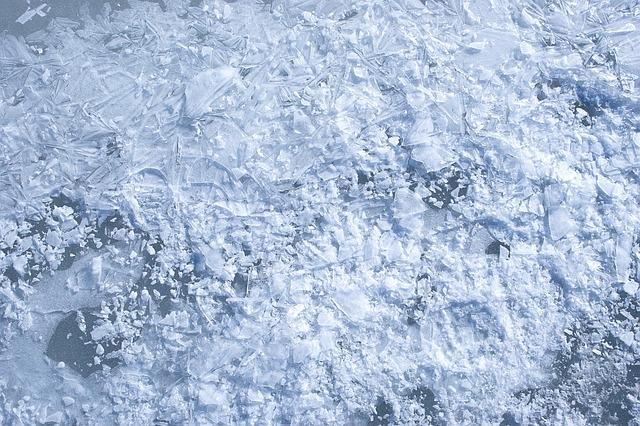 Crystal, Ice, Background, Glass, Crack, Blue, Broken