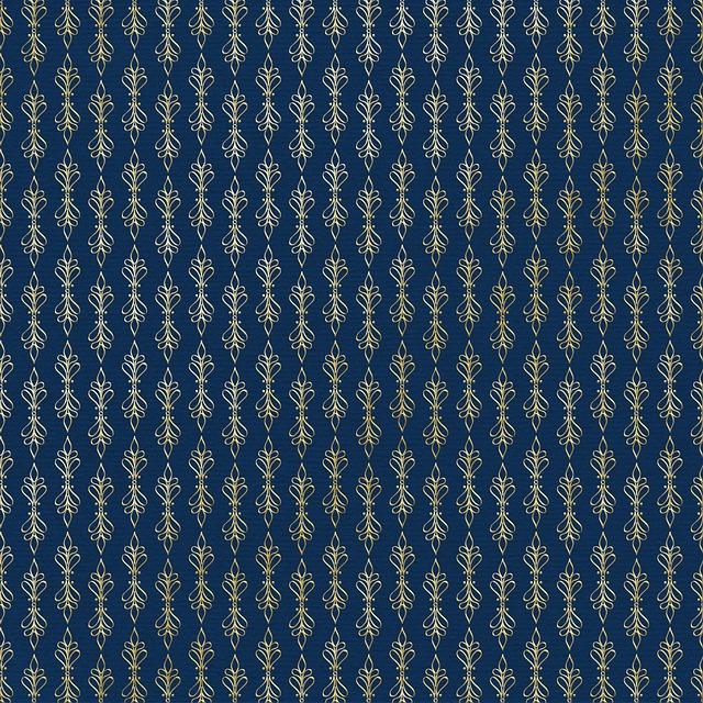Digital Paper, Background, Dark Blue And Gold