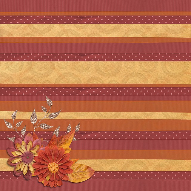 Background, Fall, Leaves, Stripes, Line, Scrapbook