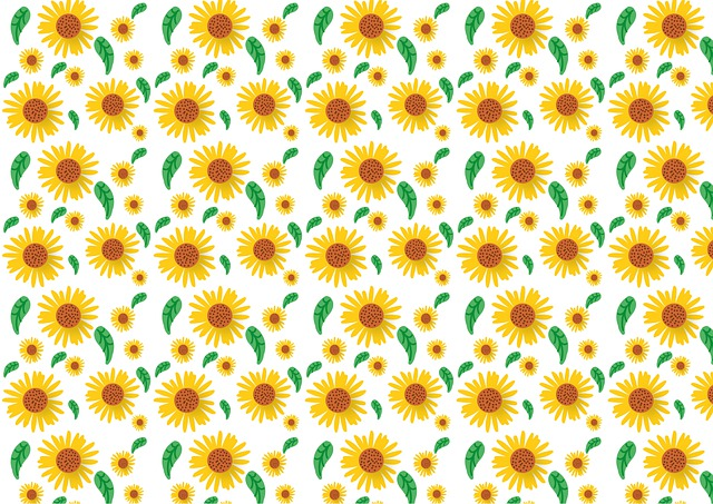 Sunflower, Pattern, Flower, Summer, Background, Nature