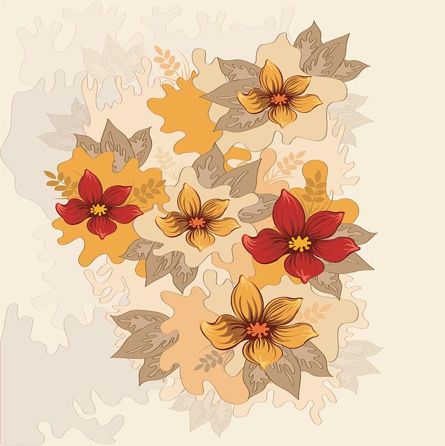 Flower Vector, Background, Flower Design