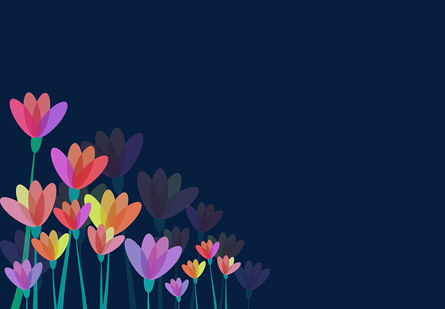 Flowers, Floral, Flowery, Background, Plants, Stylized